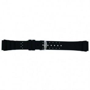 Watch strap SL100 Silicone Black 20mm