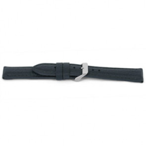Watch strap I081 XL  Leather Grey 24mm + grey stitching
