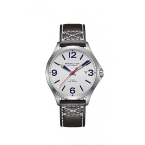 Watch strap Hamilton H76525751 Leather Black 20mm
