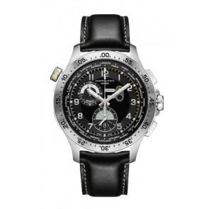 Watch strap Hamilton H76714735 Leather Black 22mm