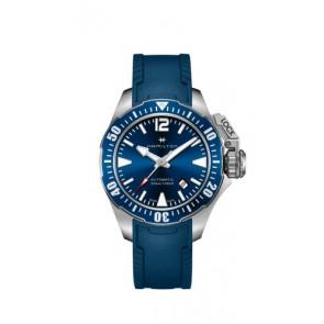 Watch strap Hamilton H77705345 Rubber Blue 20mm