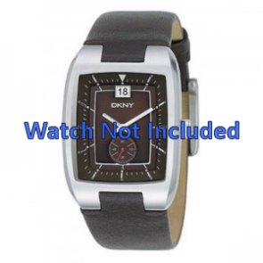 DKNY watch strap NY1319 Leather Brown 20mm