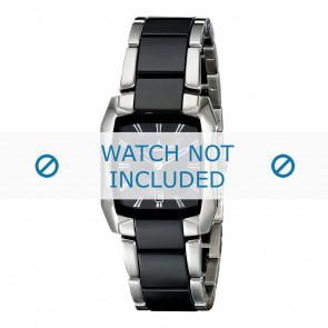 Jacques Lemans watch strap 1-1754A Ceramics Bi-color