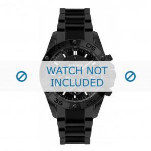 Jacques Lemans watch strap 1-1773D Ceramics Black