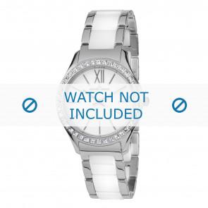 Jacques Lemans watch strap 1-1797B Ceramics Bi-color