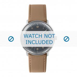 Junghans watch strap 027/3401.00 Leather Beige 20mm + standard stitching