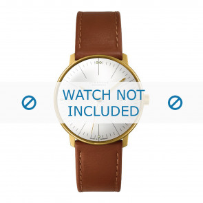 Junghans watch strap 027/7700.00 Leather Cognac 20mm + standard stitching