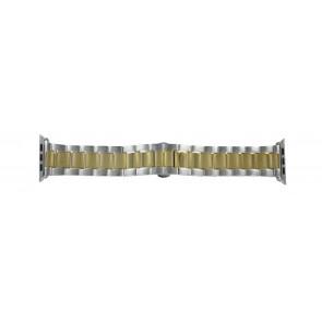 Apple (replacement model) watch strap LS-AB-106 (Bi-color) Steel Gold (Doublé) 42mm