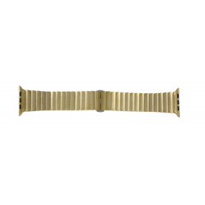 Apple (replacement model) watch strap LS-AB-107 Steel Gold (Doublé) 42mm