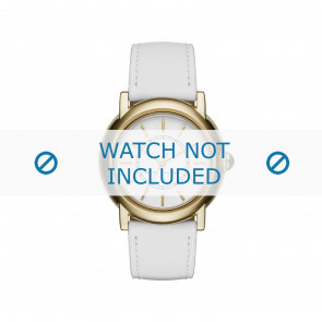 Marc by Marc Jacobs watch strap MJ1449 Leather White 18mm