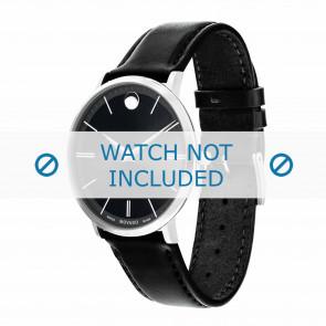 Movado watch strap 0607086 Leather Black 20mm + standard stitching