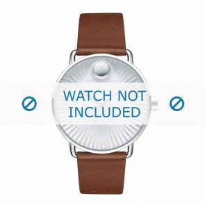 Movado watch strap 3680038 Leather Cognac 20mm