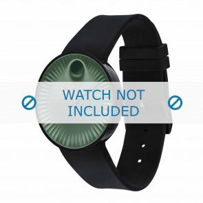 Movado watch strap 3680041 Silicone Black 22mm