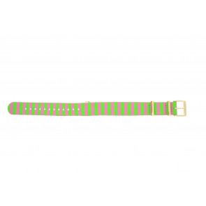 Timex watch strap PW2P91800 Canvas Multicolor 18mm