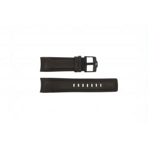 Rip Curl watch strap DBR24DBR Leather Dark brown 24mm + brown stitching