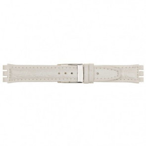 Watch strap for Swatch white 19mm 20m