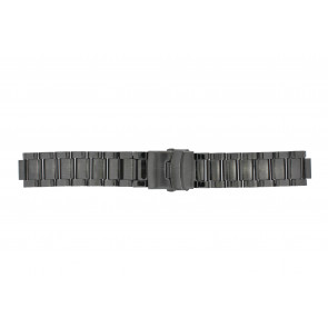 Q&Q watch strap QQ13ST-AC-ST Metal Anthracite grey 13mm