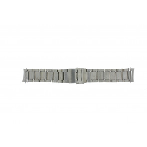 Watch strap QQ22RHZIL Metal Silver 22mm