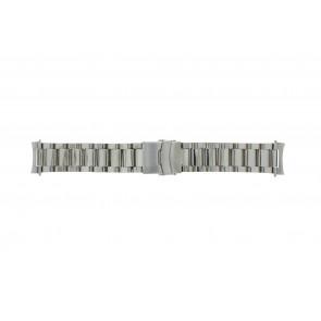 Watch strap QQ22STROU Metal Silver 22mm