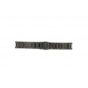 Watch strap QQ22ZWR Metal Black 22mm