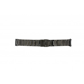 Watch strap QQ24ZWRD Metal Anthracite grey 24mm