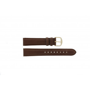 Q&Q watch strap QQ18LDBG-GD Leather Brown 18mm + brown stitching