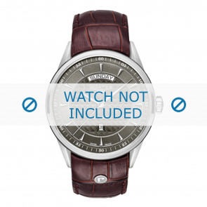 Roamer watch strap 508293-41-05-05 Leather Brown 22mm + standard stitching