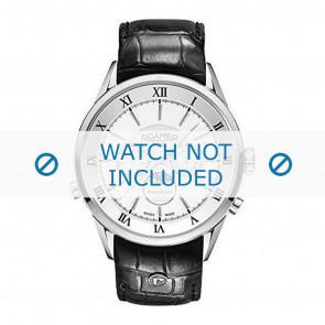 Roamer watch strap 508821-41-13-05 Leather Black 22mm + standard stitching