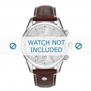 Roamer watch strap 540951-41-16-05 Leather Brown 22mm + white stitching