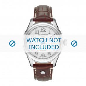Roamer watch strap 545660-41-16-05 Leather Brown 18mm + white stitching