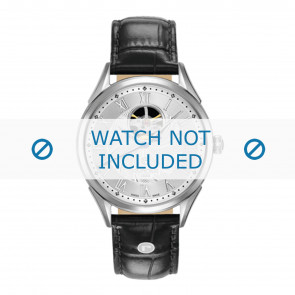 Roamer watch strap 550661-41-22-05 Leather Black 18mm + standard stitching