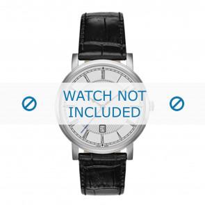 Roamer watch strap 709856-41-12-07 Leather Black 20mm + standard stitching