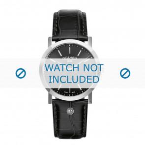 Roamer watch strap 937830-41-50-09 Leather Black 22mm + standard stitching