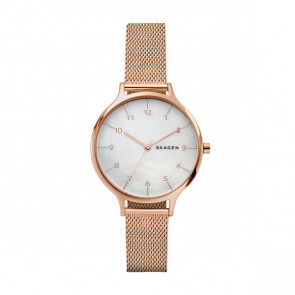 Watch strap Skagen SKW2633 Steel Rosé 14mm