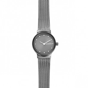 Watch strap Skagen SKW2700 Steel Anthracite grey 14mm