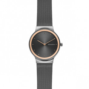 Watch strap Skagen SKW2707 Steel Anthracite grey 16mm