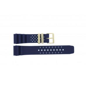 Citizen watch strap TZE-S285.22DBL / Citizen Rubber Blue 22mm