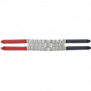 Tommy Hilfiger watch strap F80132 / 1780068 Leather Red / Blue 4mm