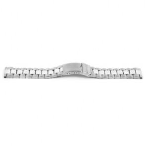 Watch strap YI09 Metal Silver 24mm