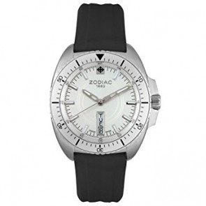 Zodiac watch strap ZO5500 Rubber Black