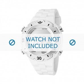 Adidas watch strap ADH1768 Silicone White 16mm
