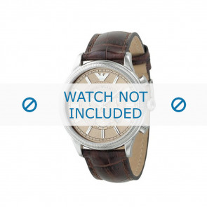 Armani watch strap AR0562 Leather Brown 21mm + brown stitching