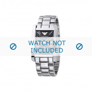 Armani watch strap AR0156 Metal Silver
