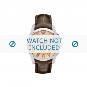 Armani watch strap AR1634 Leather Brown + brown stitching