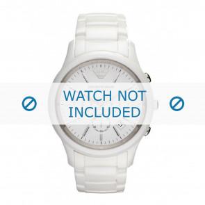 Armani watch strap AR1453 Ceramics White 22mm