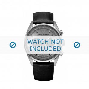 Armani watch strap AR5994 Leather Black 23mm