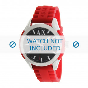 Armani watch strap AX1227 Rubber / plastic Red 22mm