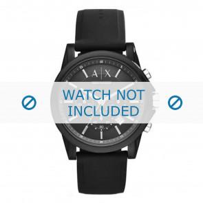 Armani watch strap AX1326 Silicone Black
