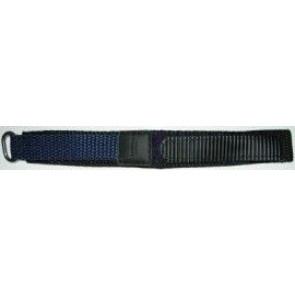 Velcro watch strap dark blue 20mm
