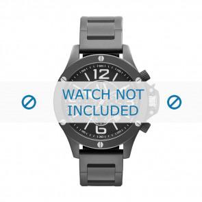 Armani watch strap AX-1503 Steel Black 22mm